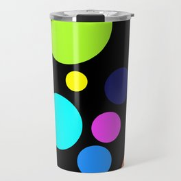 Circles on Black Travel Mug