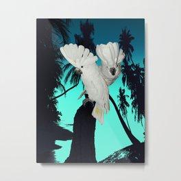 Cockatoo Bird at Sunset A314 Metal Print