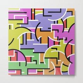 Segregation Of Colour Metal Print