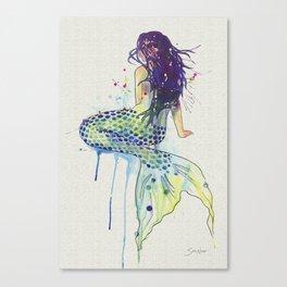 Mermaid - Natural Canvas Print
