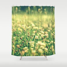 My Heart Was Wrapped in Clover (the night I looked at you) Shower Curtain