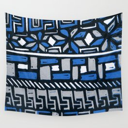 Primitive lino print Wall Tapestry