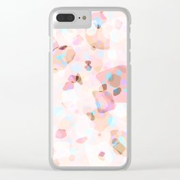 Terrazzo Crystals I. Clear iPhone Case