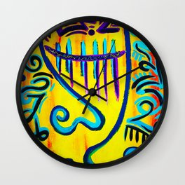 Couple on Yellow Wall Clock