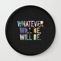 whatever Wall Clocks featuring Whatever by TheSmallCollective