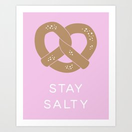 Stay Salty in Pink Art Print