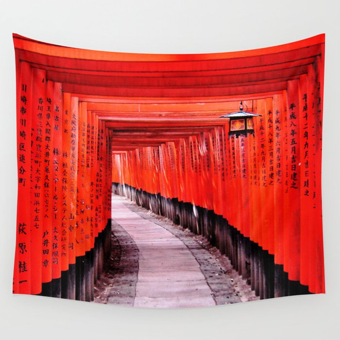 Through the Gates (Kyoto, Japan) Wall Tapestry