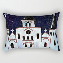 St. Louis Cathedral at Night Rectangular Pillow