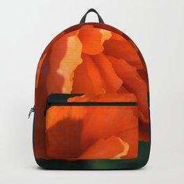 Double poppy by Teresa Thompson Backpack
