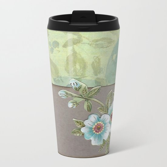 Brown paper flowers Metal Travel Mug