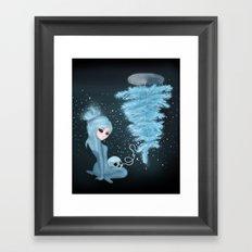 Intercosmic Christmas in Blue Framed Art Print