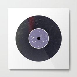 Vinyl Record Star Sign Art | Sagittarius Metal Print