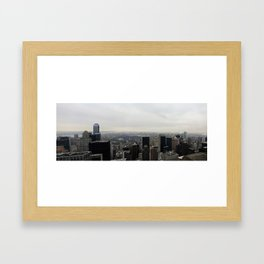 Grey Clouds over Central Park, NYC Framed Art Print