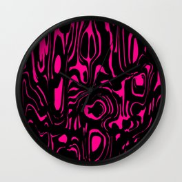 A twisted interweaving of pink spots from flowing lava and a light chaotic cycle. Wall Clock