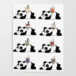 Wall of Boba Pandas Poster