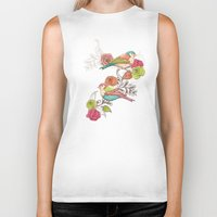country Biker Tanks featuring Country Garden by Amanda Dilworth
