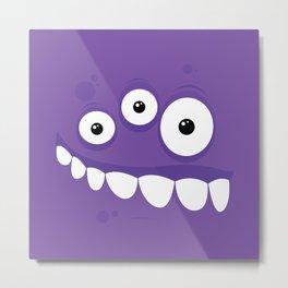 Psychos - Crazy Monsters (Purple) Metal Print
