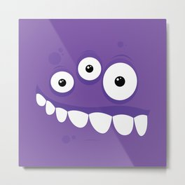 Psychos - Crazy Monsters (Purple) Metal Print