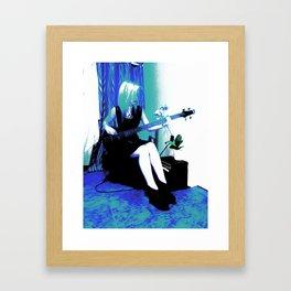 Rock Cameo Bass Blues, Guitar Framed Art Print