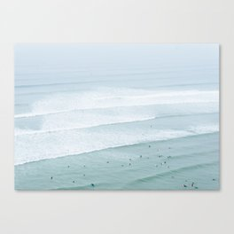 Tiny Surfers from the Sky 3, Lima, Peru Canvas Print