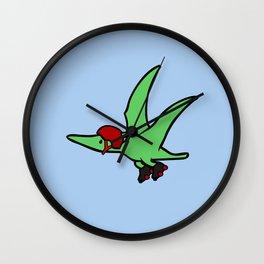 Roller Derby Pterodactyl Wall Clock