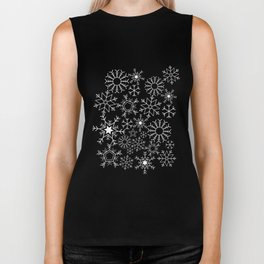 Invert snowflake pattern Biker Tank