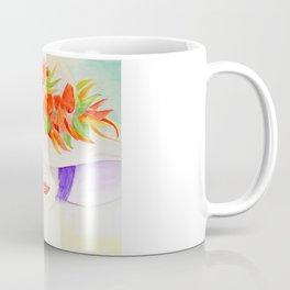 Watercolor Chilli Girl Fashion, Chilli Hat Coffee Mug