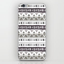 Native American Ornaments Watercolor Pattern Brown iPhone Skin