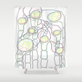 Jellyfish in the Bulrushes Shower Curtain