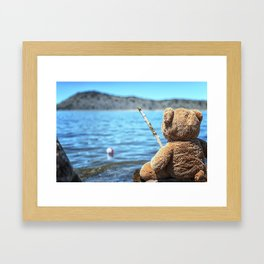 Come on Walter said the fishing teddy bear Framed Art Print
