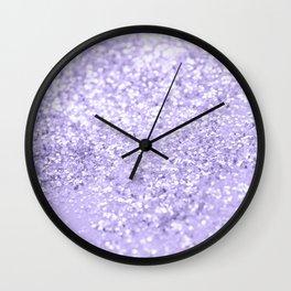 Lavender Glitter Dream #1 #shiny #decor #art #society6 Wall Clock