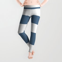 Gradient Stripe in Blue and White Minimalist Pattern Leggings