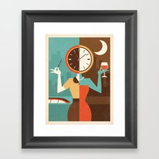 Wine Time Framed Art Print