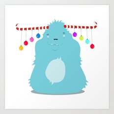 December Monsters: Merry and Bright Art Print