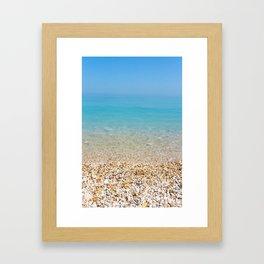 Find the shoreline Framed Art Print