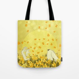 Yellow Effervescence Tote Bag