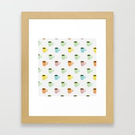 Coffee Pattern Framed Art Print