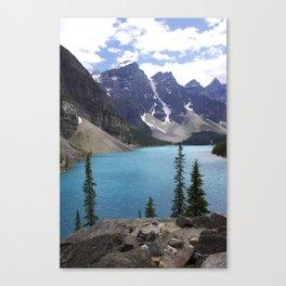 Moraine Lake Upper trail view Canvas Print