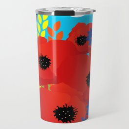 CORNFIELD with BUTTERFLIES Travel Mug