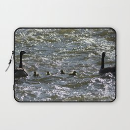 Canada Geese and their Goslings Laptop Sleeve
