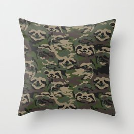 Sloth Camouflage Throw Pillow