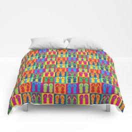 Pop Art Flip Flops Comforters