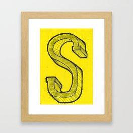 S Sketch Framed Art Print
