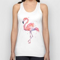 flamingo Tank Tops featuring Flamingo  by Olechka
