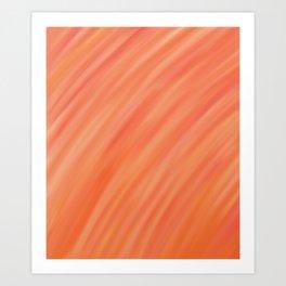 Peach Gradient Art Print