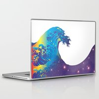 hokusai Laptop & iPad Skins featuring Hokusai Universe by FACTORIE