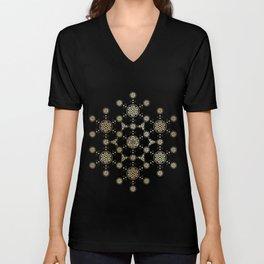 molecule of life. sacred geometry. alien crop circle Unisex V-Neck