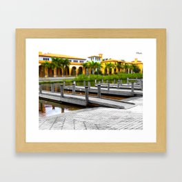 B&W Meets Color at the Water's Edge and the Lines Begin to Blur Framed Art Print