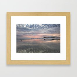 HB SUNSET 1-3-18 Framed Art Print