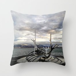 Sólfar - The Sun Voyager Throw Pillow